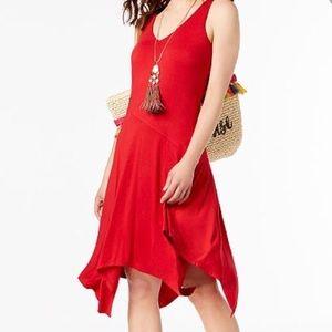 INC ASYMMETRICAL REAL RED DRESS SIZE XL